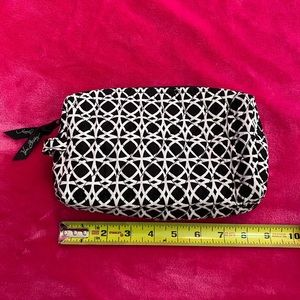 Vera Bradley black and white cosmetic travel bag